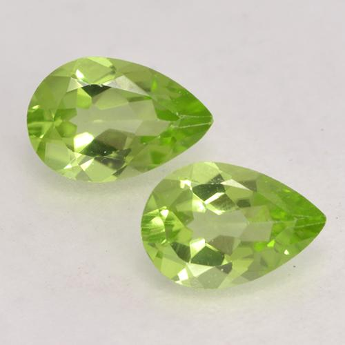 0.4ct Pear Facet Light Lively Green Peridot Gem (ID: 532594)