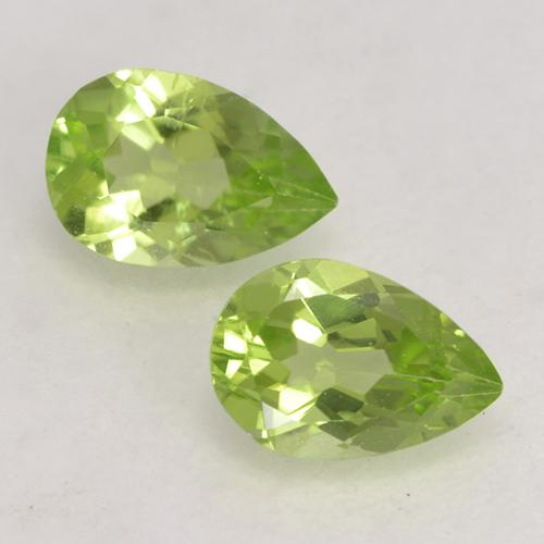 Light Lively Green Peridot Gem - 0.5ct Pear Facet (ID: 532595)