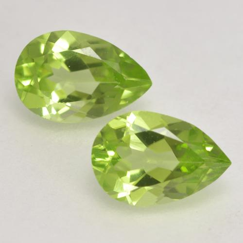 Medium Green Peridot Gem - 0.4ct Pear Facet (ID: 533146)