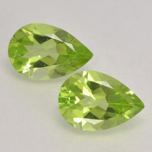 Light Lively Green Peridot Gem - 0.4ct Pear Facet (ID: 533147)