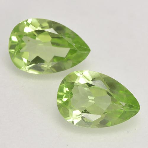 0.5ct Pear Facet Light Lively Green Peridot Gem (ID: 533149)