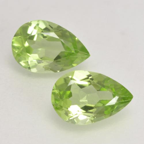 0.4ct Pear Facet Light Lively Green Peridot Gem (ID: 533151)