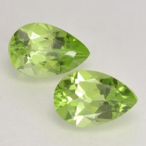Light Lively Green Peridot Gem - 0.5ct Pear Facet (ID: 533152)