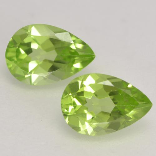 0.5ct Pear Facet Light Lively Green Peridot Gem (ID: 533153)