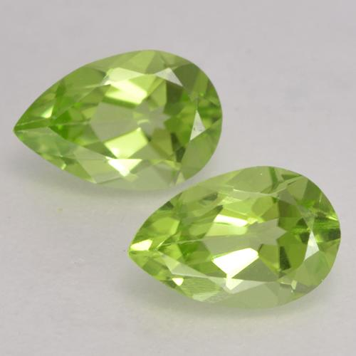 0.4ct Pear Facet Light Lively Green Peridot Gem (ID: 533154)
