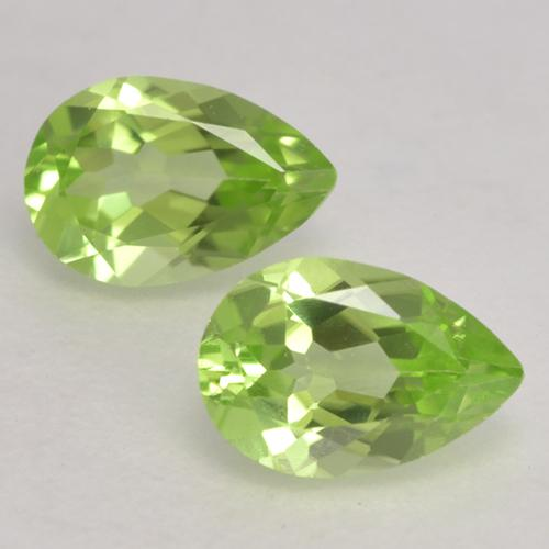 0.4ct Pear Facet Light Lively Green Peridot Gem (ID: 533156)