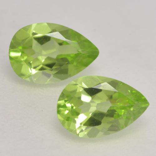 Light Lively Green Peridoto Gema - 0.4ct Corte en forma de pera (ID: 533157)