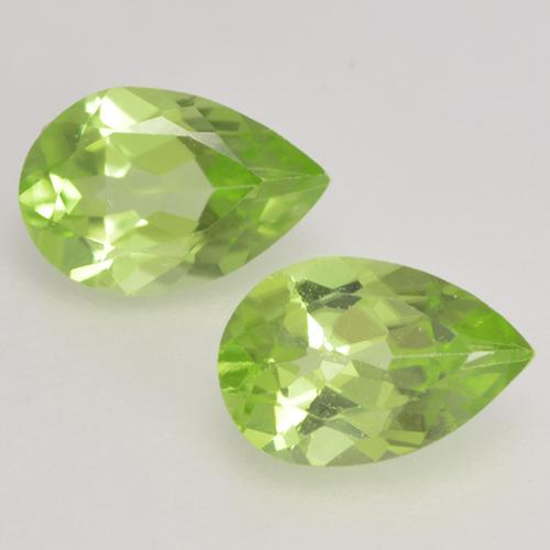 0.4ct Pear Facet Light Lively Green Peridot Gem (ID: 533359)