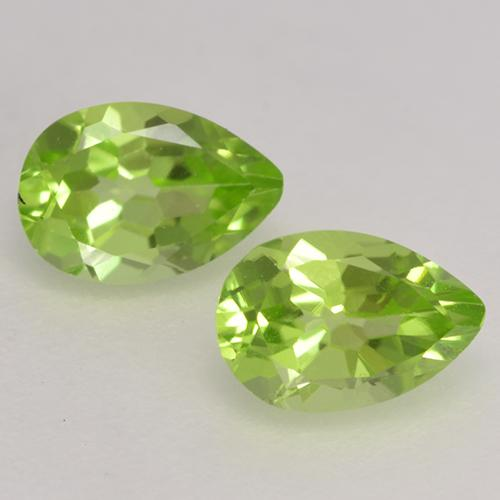 Lively Green Peridot Gem - 0.5ct Pear Facet (ID: 533362)