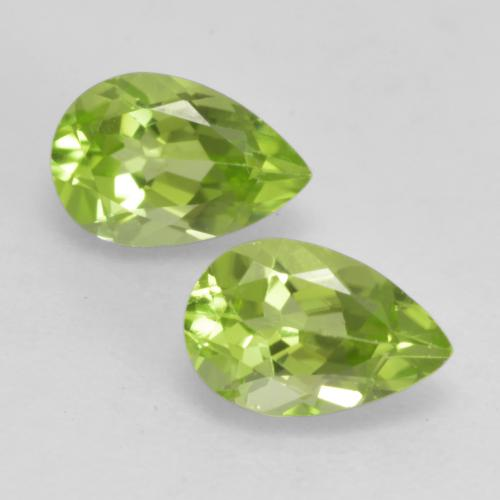 0.5ct Pear Facet Light Lively Green Peridot Gem (ID: 533366)