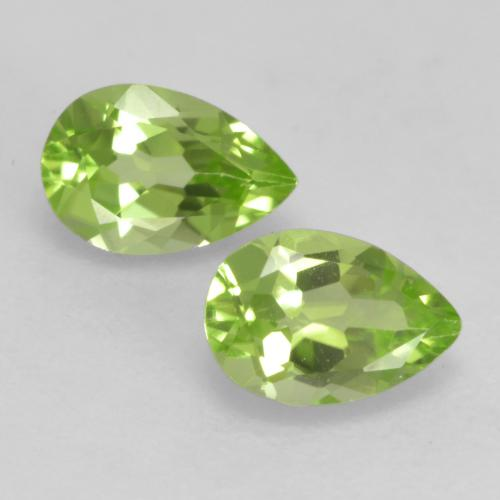 0.4ct Pear Facet Light Lively Green Peridot Gem (ID: 533367)