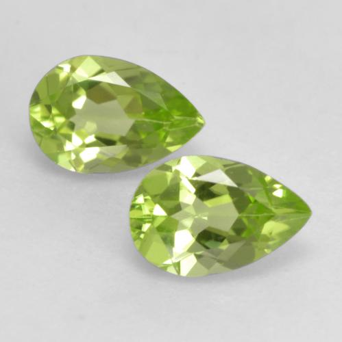 0.4ct Pear Facet Light Lively Green Peridot Gem (ID: 533368)