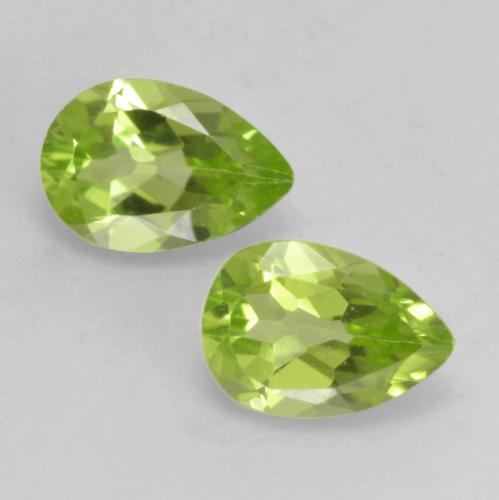 0.4ct Pear Facet Light Lively Green Peridot Gem (ID: 533369)