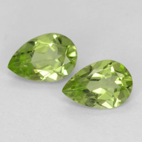 Light Lively Green Peridoto Gema - 0.4ct Corte en forma de pera (ID: 539792)