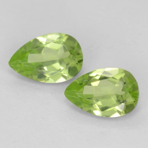 Light Lively Green Peridot Gem - 0.5ct Pear Facet (ID: 539802)