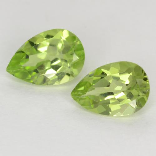 Light Lively Green Peridot Gem - 0.4ct Pear Facet (ID: 540020)