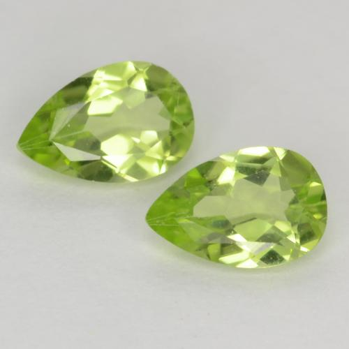 Light Lively Green Peridot Gem - 0.4ct Pear Facet (ID: 540022)