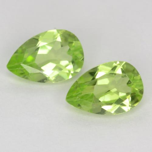 Light Lively Green Peridot Gem - 0.5ct Pear Facet (ID: 540028)