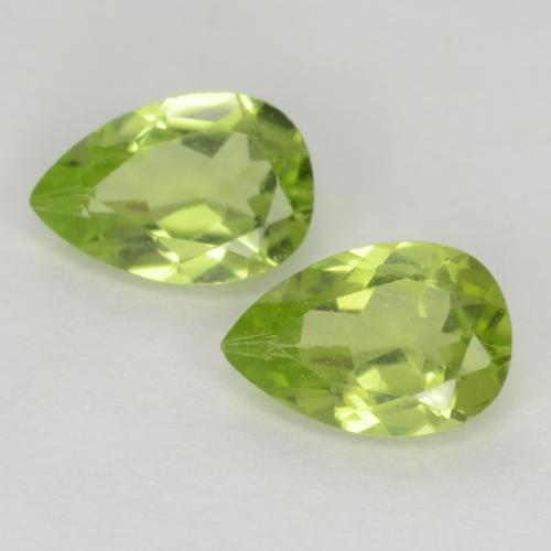 Light Lively Green Peridot Gem - 0.5ct Pear Facet (ID: 540039)