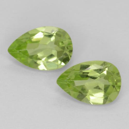 Medium Green Peridot Gem - 0.4ct Pear Facet (ID: 540639)