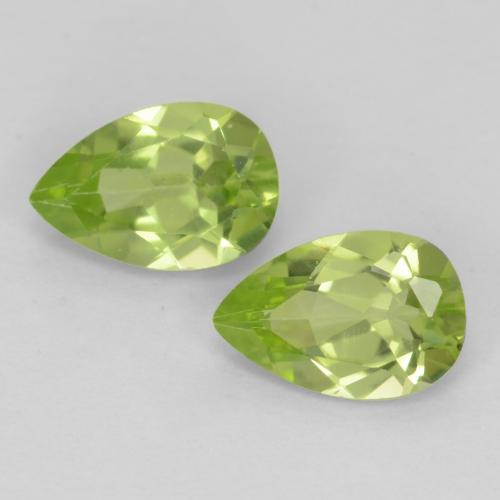 Medium Green Peridot Gem - 0.4ct Pear Facet (ID: 540640)