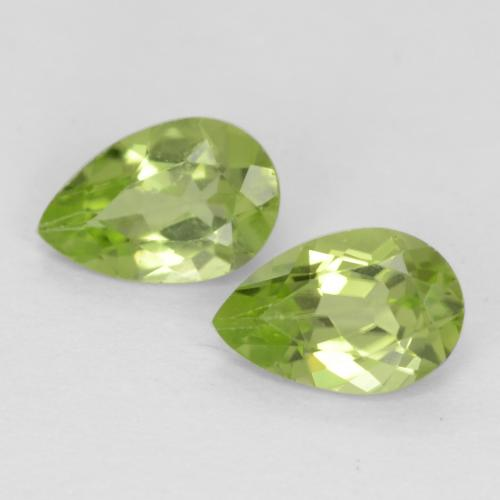 Light Lively Green Peridot Gem - 0.4ct Pear Facet (ID: 540641)