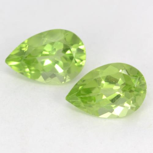 Light Lively Green Peridot Gem - 0.5ct Pear Facet (ID: 542542)