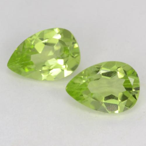 Light Lively Green Peridot Gem - 0.5ct Pear Facet (ID: 542544)