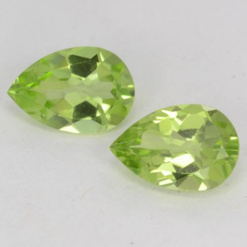 Light Lively Green Peridot Gem - 0.4ct Pear Facet (ID: 542545)