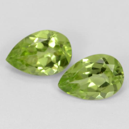 Medium Green Peridot Gem - 0.4ct Pear Facet (ID: 542968)
