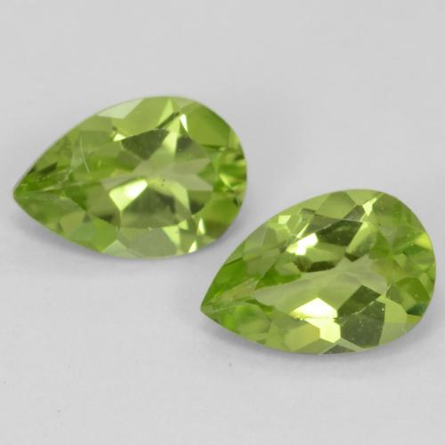 Light Lively Green Peridot Gem - 0.5ct Pear Facet (ID: 542976)