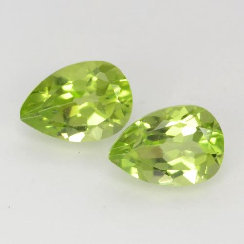 Light Lively Green Peridot Gem - 0.5ct Pear Facet (ID: 543739)