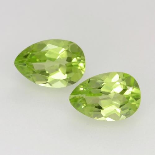 Light Lively Green Peridot Gem - 0.5ct Pear Facet (ID: 543855)
