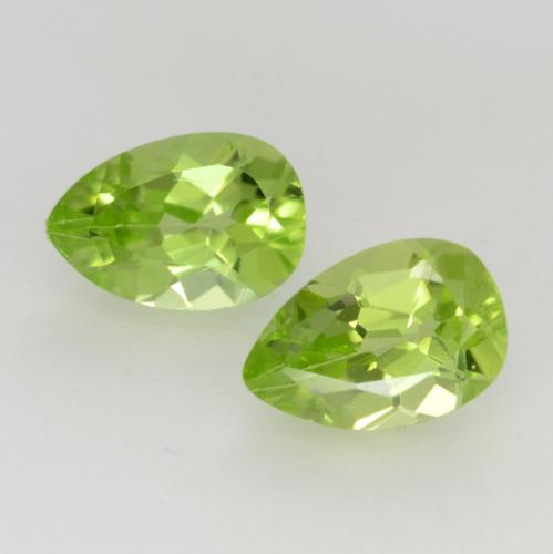 Light Lively Green Peridot Gem - 0.5ct Pear Facet (ID: 543860)