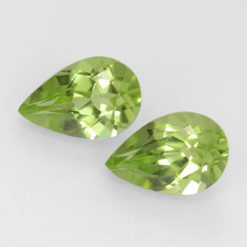 Light Lively Green Peridot Gem - 0.4ct Pear Facet (ID: 544012)