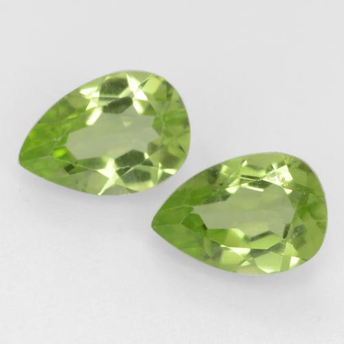Light Lively Green Peridot Gem - 0.5ct Pear Facet (ID: 544013)