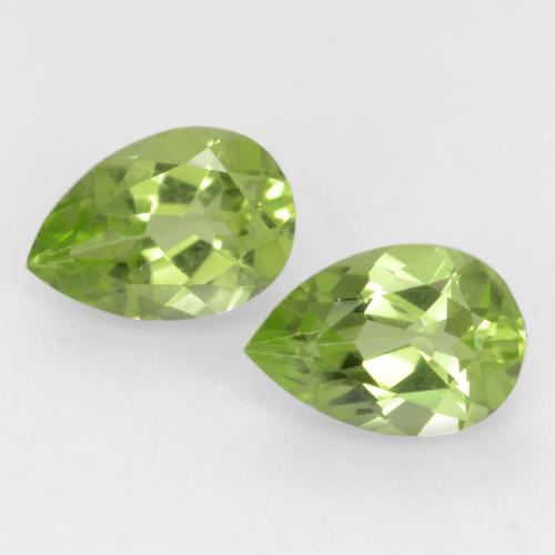 Light Lively Green Peridot Gem - 0.4ct Pear Facet (ID: 544016)