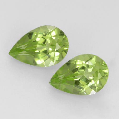 Light Lively Green Peridoto Gema - 0.5ct Corte en forma de pera (ID: 544021)