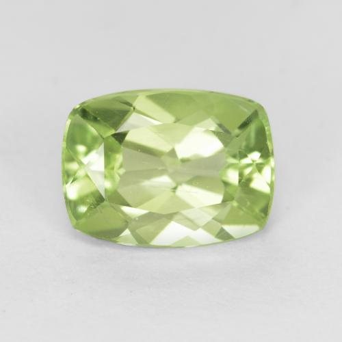 Warm Green Peridot Gem - 1.4ct Cushion-Cut (ID: 554088)