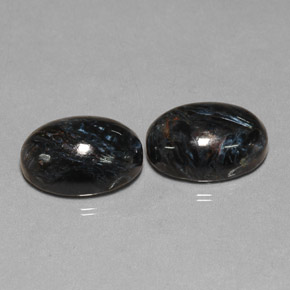 Black Pietersite Gem - 6.6ct Oval Cabochon (ID: 277571)