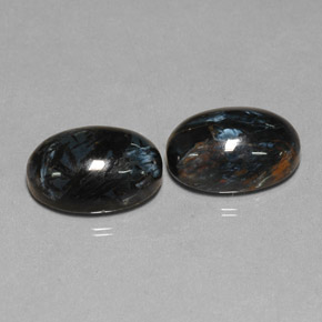 Black Pietersite Gem - 6.3ct Oval Cabochon (ID: 277572)