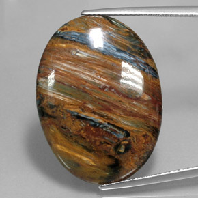 Multicolor Pietersite Gem - 22ct Oval Cabochon (ID: 346039)