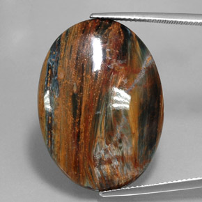 22.7ct Oval Cabochon Multicolor Pietersite Gem (ID: 346040)