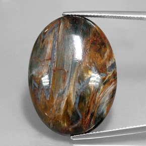 Multicolor Pietersite Gem - 29.5ct Oval Cabochon (ID: 346041)