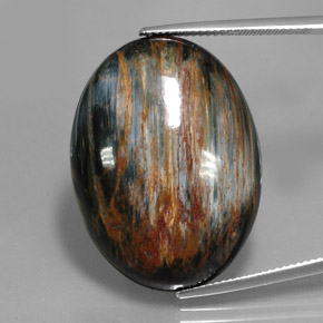 Multicolor Pietersite Gem - 34.5ct Oval Cabochon (ID: 346056)