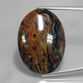 23.5ct Oval Cabochon Multicolor Pietersite Gem (ID: 346058)