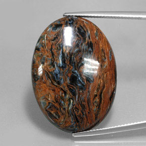 Multicolor Pietersite Gem - 26.2ct Oval Cabochon (ID: 346059)