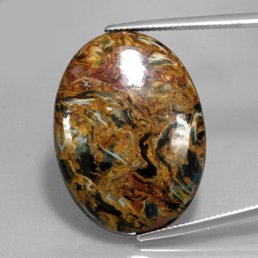 27.9ct Oval Cabochon Multicolor Pietersite Gem (ID: 346060)