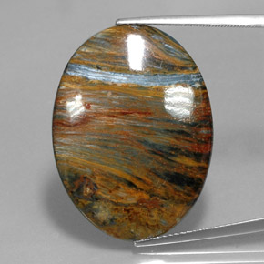 Multicolor Pietersite Gem - 20.2ct Oval Cabochon (ID: 347554)