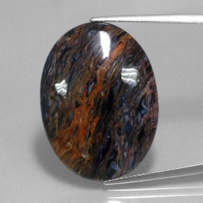 22.4ct Oval Cabochon Multicolor Pietersite Gem (ID: 347558)